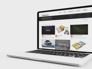 création vidéo entreprise style présentation élégante site internet via portable laptop caméra 01