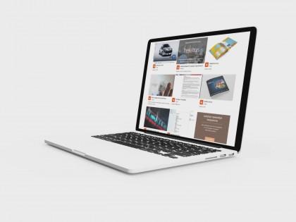 création vidéo entreprise style présentation élégante site internet via portable laptop caméra 05
