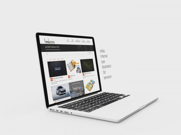 création vidéo entreprise style présentation élégante site internet via portable laptop caméra 07