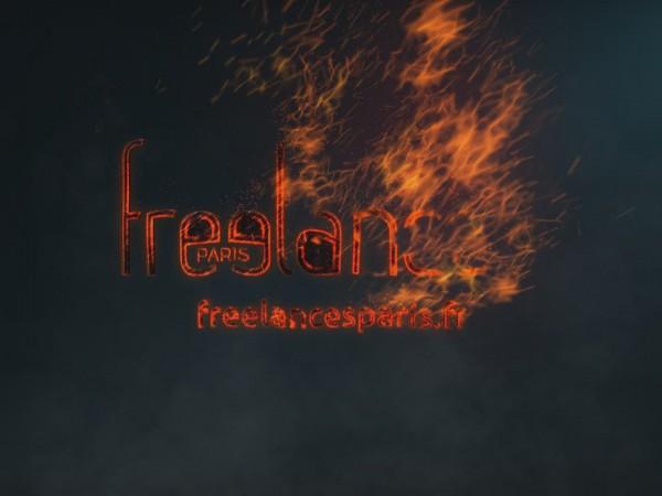 création animation logo vidéo entreprise style enflammé