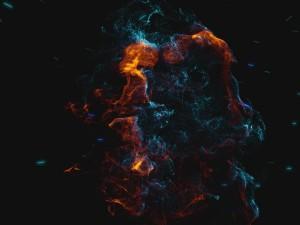 création animation logo vidéo entreprise style particules cosmiques nébuleuses